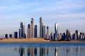 Dubai city picture of the across the serene water Royalty Free Stock Photos