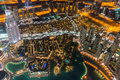 Dubai city skyline at night Royalty Free Stock Photo
