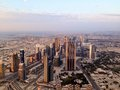 Dubai downtown district uae skyline united arab emirates Royalty Free Stock Photography