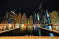 Dubai. Dubai Marina at night Royalty Free Stock Photography