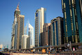 Dubai financial district Royalty Free Stock Images