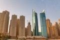 Dubai Highrise Apartments Royalty Free Stock Photo