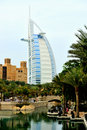 Dubai. Hotels Madinat and Burj al Arab Stock Photos