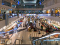 Dubai Inernational Airport Terminal shopping area Stock Photography