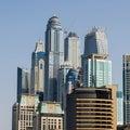 Dubai Jumeira Beach Residence (JBR) buildings Royalty Free Stock Photo