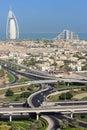 Dubai Living - residential and hotel development Royalty Free Stock Photo
