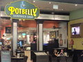 Dubai mall in dubai uae potbelly sandwich shop at the is the world s largest shopping based on total area and Stock Image