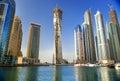 Picture : Dubai Marina view burj packed