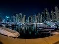 Dubai Marina boats Royalty Free Stock Photo