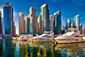 Dubai marina in UAE Royalty Free Stock Photo