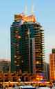 Dubai Marina Night Scene 8 Royalty Free Stock Photo