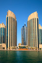 Dubai Marina skyscrapers Royalty Free Stock Image