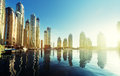 Dubai Marina at sunset Royalty Free Stock Photo