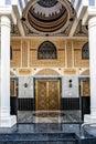 Dubai mosque entrance door Royalty Free Stock Photo