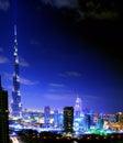 Dubai. Night View Royalty Free Stock Photo