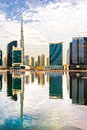 Dubai skyline with the burj khalifa uae Royalty Free Stock Images