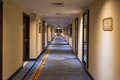 Dubai. In the summer of 2016. Modern and bright interior in the hotel Kempinski. The hotel hallway.