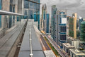 Dubai Towers Top View from the edge of a balcony Royalty Free Stock Photo