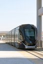 Dubai tram previously al sufouh tram service in the city of january united arab emirates Stock Photos