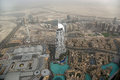 Dubai uae aerial view from the height of burj khalifa Royalty Free Stock Photos