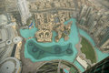 Dubai uae aerial view from the height of burj khalifa Stock Photo