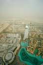 Dubai uae aerial view from the height of burj khalifa Royalty Free Stock Photo