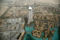Dubai uae aerial view from the height of burj khalifa Stock Images
