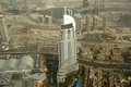 Dubai uae aerial view from the height of burj khalifa Stock Photos