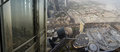 Dubai uae aerial view from the height of burj khalifa Royalty Free Stock Image