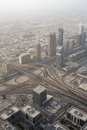 Dubai uae aerial view from the height of burj khalifa Royalty Free Stock Photography