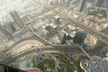 Dubai uae aerial view from the height of burj khalifa Stock Photography