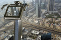 Dubai uae aerial view telescope viewer and from the height of burj khalifa Stock Image