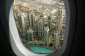 Dubai uae aerial view united arab emirates Royalty Free Stock Photo
