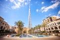 DUBAI, UAE - FEBRUARY 24 - Burj Khalifa, the highest building in the world, 829.8 m tall. Pic Royalty Free Stock Photo