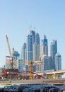 DUBAI, UAE-JANUARY 15: City streets January 15, 2014 in Dubai, U Royalty Free Stock Photo