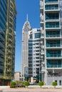 DUBAI, UAE-JANUARY 15: City streets January 15, 2014 in Dubai, U Royalty Free Stock Images