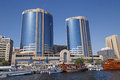 DUBAI, UAE - MAY 14, 2016: Twin Towers building Royalty Free Stock Photo