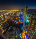 DUBAI, UAE - OCTOBER 13: Modern buildings in Dubai Marina, Dubai Royalty Free Stock Photo