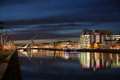 Dublin City Center during sunset Royalty Free Stock Photo