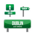 Dublin city road sign illustration design over white Royalty Free Stock Image