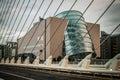 Dublin convention center view of from the samuel beckett bridge Stock Photo