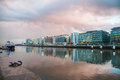Dublin docklands an overcast day in Royalty Free Stock Photos