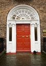 Dublin Georgian red door Stock Photos