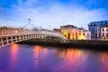 Dublin Ireland at Dusk