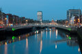 Dublin at night Stock Photography
