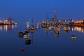 Dublin port seen from the east link toll bridge ireland july at night as on july in ireland Royalty Free Stock Image