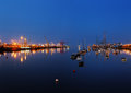 Dublin port seen from the east link toll bridge ireland july at night as on july in ireland Stock Images