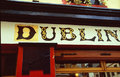 Dublin Pub Royalty Free Stock Photography