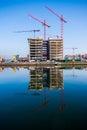 Dublin quays derelict anglo irish bank building in city ireland Stock Photos