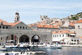 Dubrovnic croatia the port in the walled city of on the croatian coast Royalty Free Stock Photos